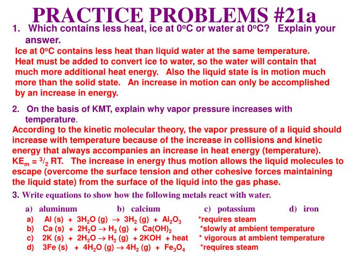 PRACTICE PROBLEMS #21a