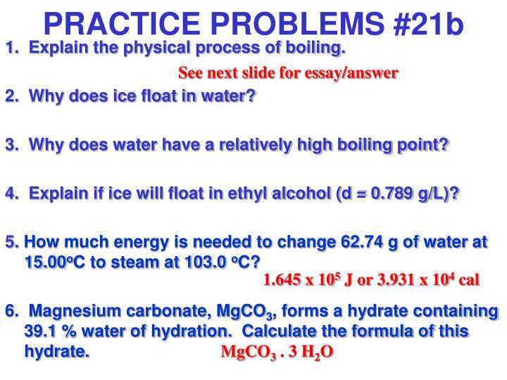 PRACTICE PROBLEMS #21b