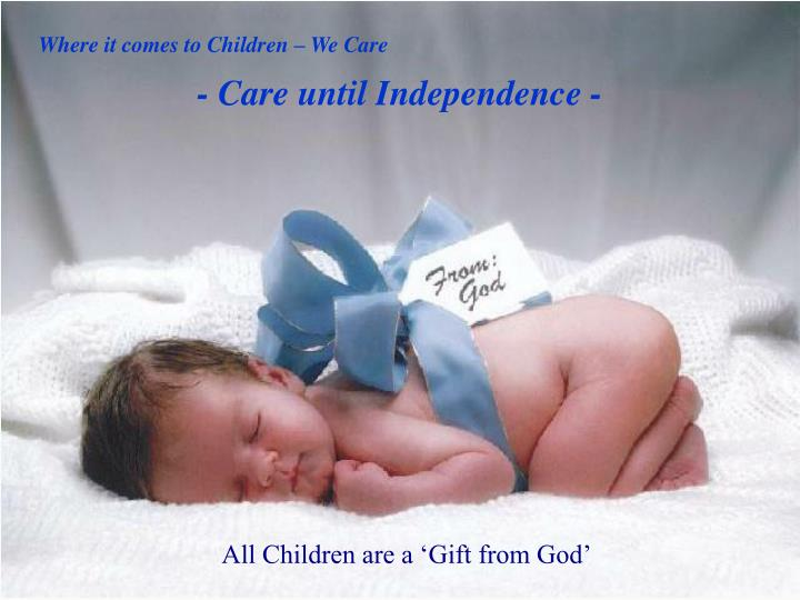 Where it comes to Children – We Care
