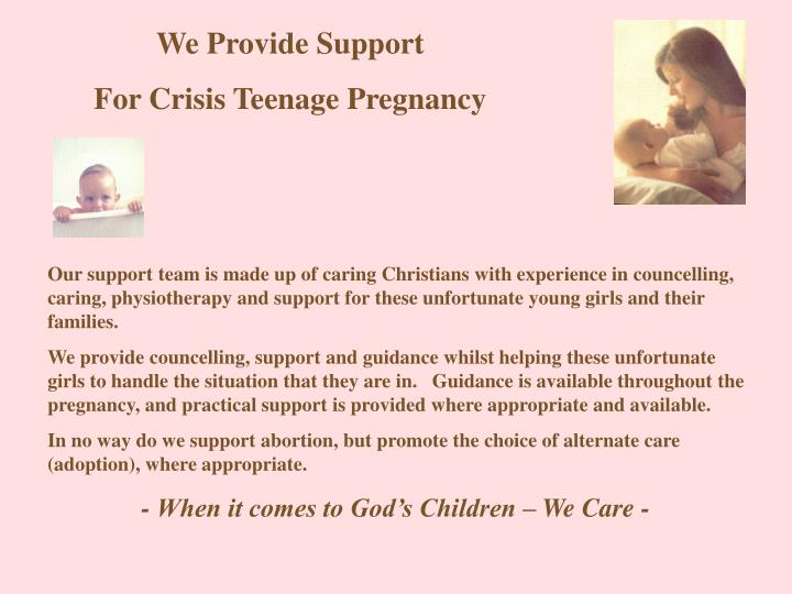 We Provide Support