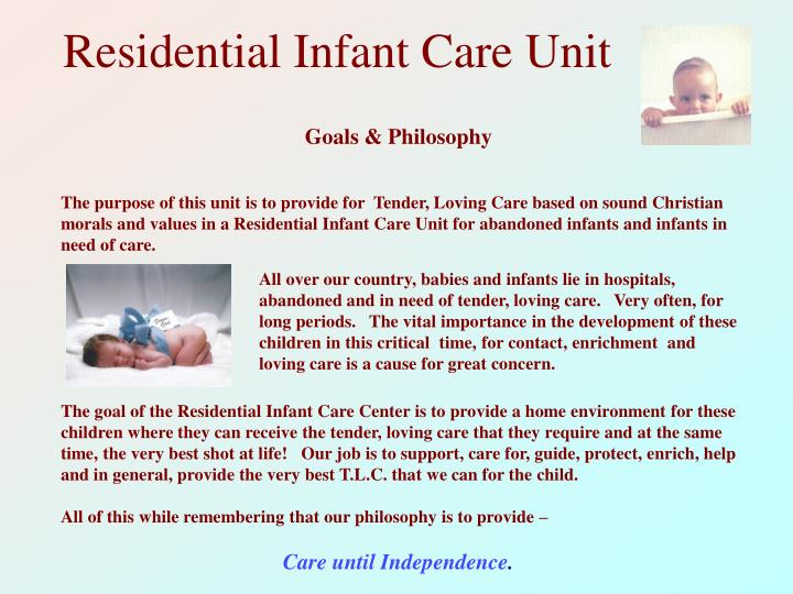 Residential Infant Care Unit