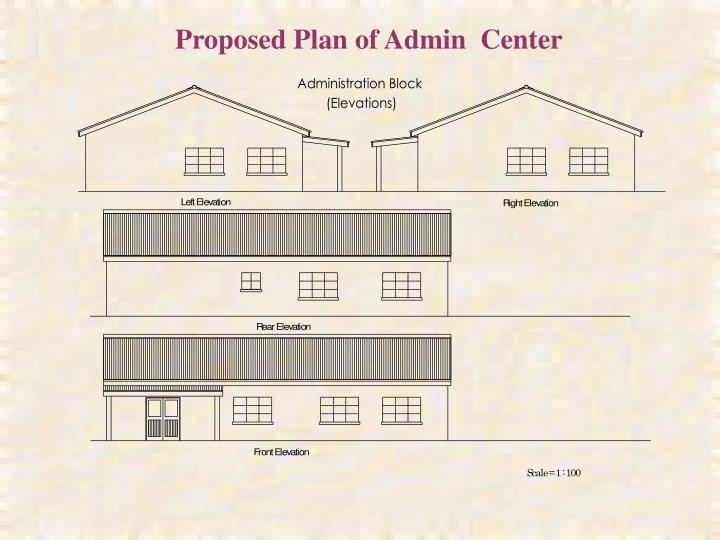 Proposed Plan of Admin  Center