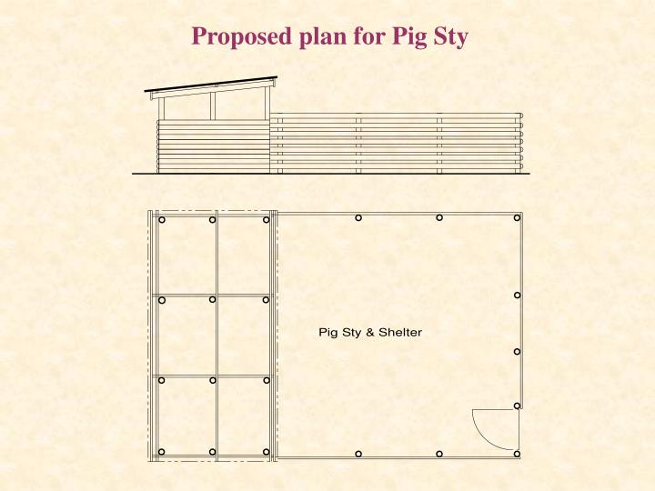 Proposed plan for Pig Sty