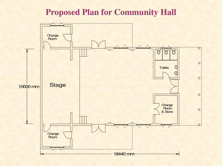 Proposed Plan for Community Hall