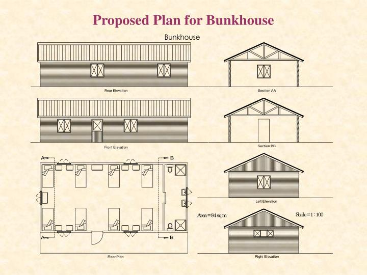 Proposed Plan for Bunkhouse