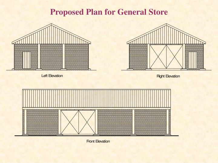 Proposed Plan for General Store