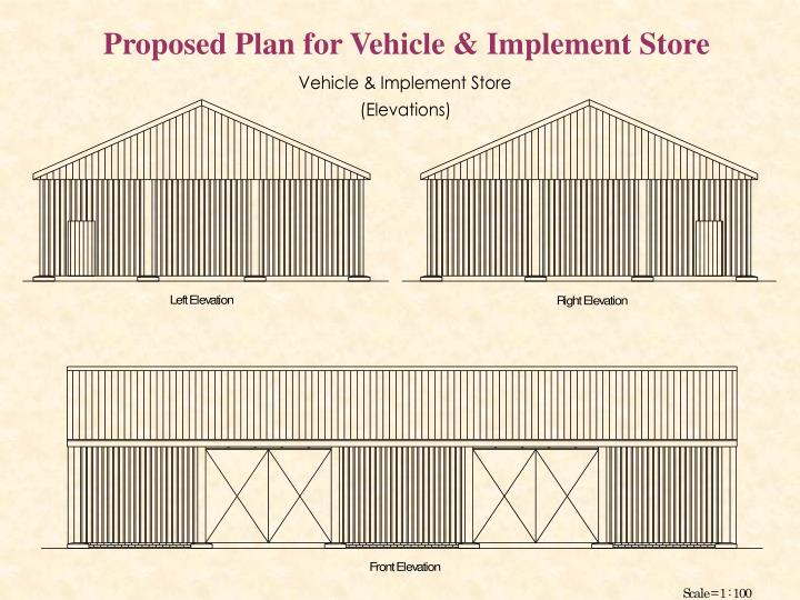 Proposed Plan for Vehicle & Implement Store