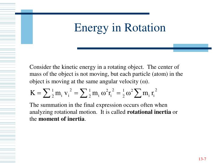 Energy in Rotation