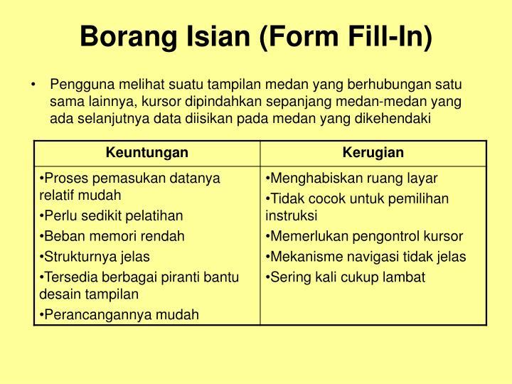 Borang Isian (Form Fill-In)