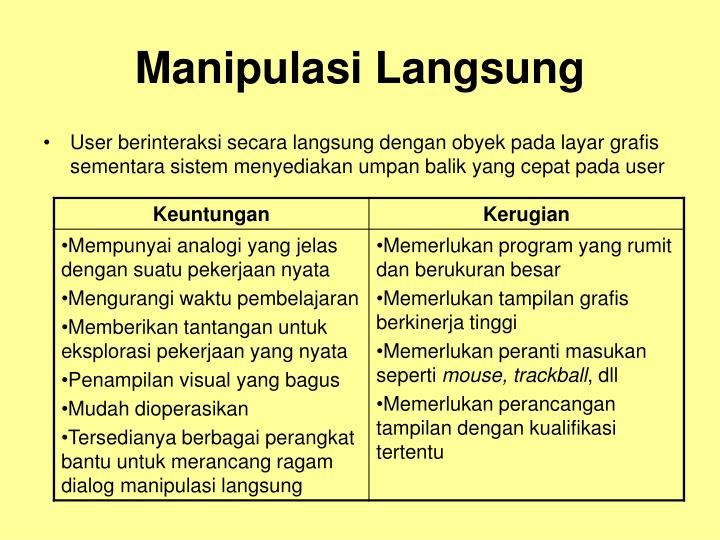 Manipulasi Langsung