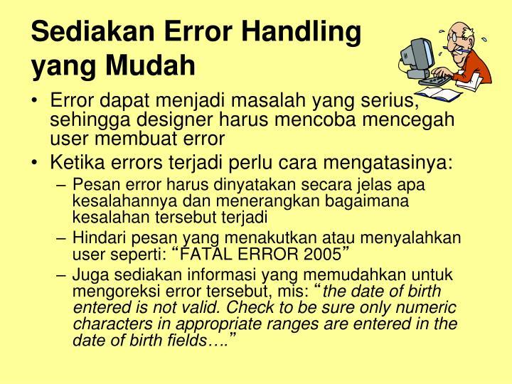Sediakan Error Handling