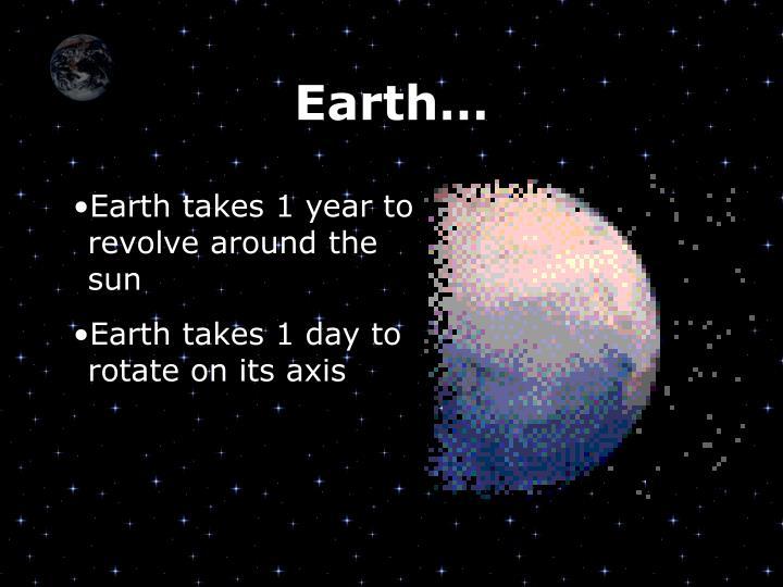 Earth…