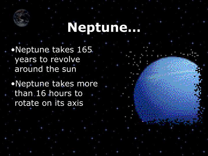 Neptune…