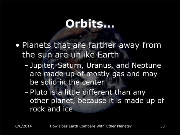 Orbits…