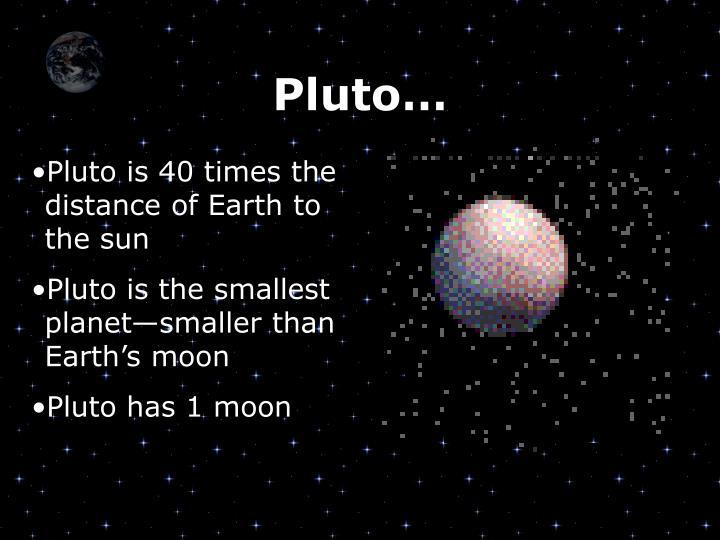 Pluto…