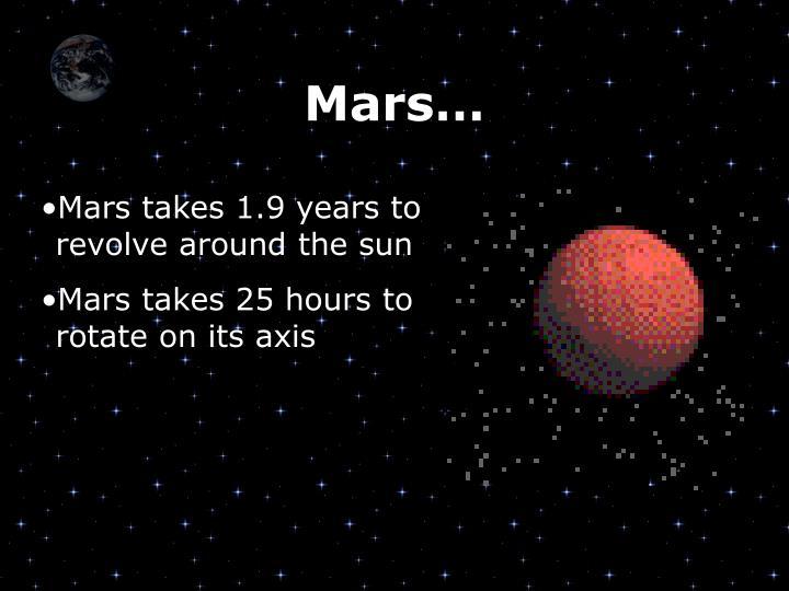 Mars…