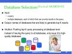 database selection yu et al sigmod 07
