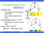 group steiner tree