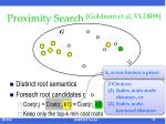 proximity search goldman et al vldb981