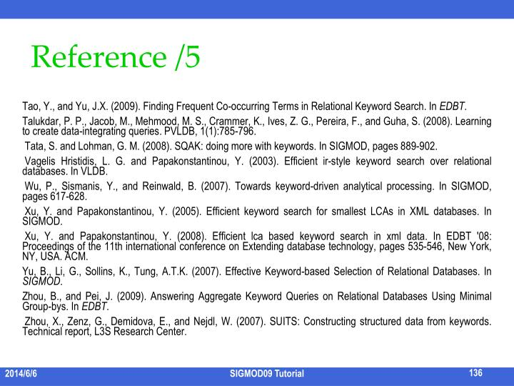 Reference /5