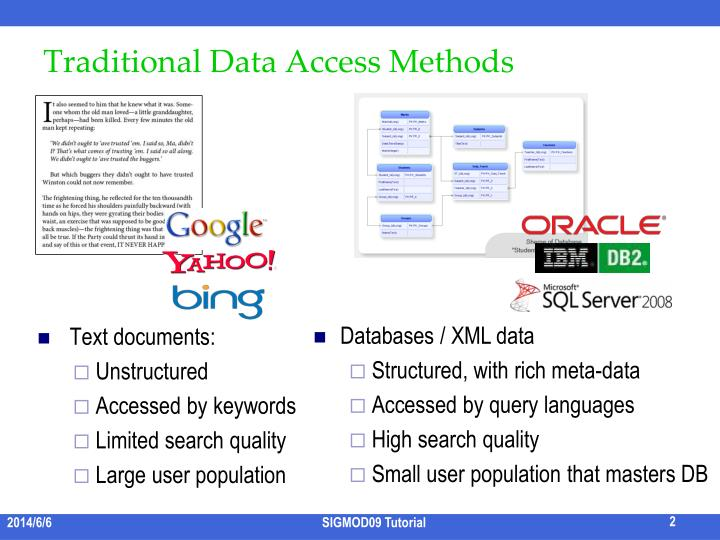 Traditional Data Access Methods