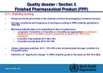 quality dossier section 3 finished pharmaceutical product fpp27
