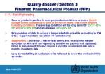 quality dossier section 3 finished pharmaceutical product fpp28