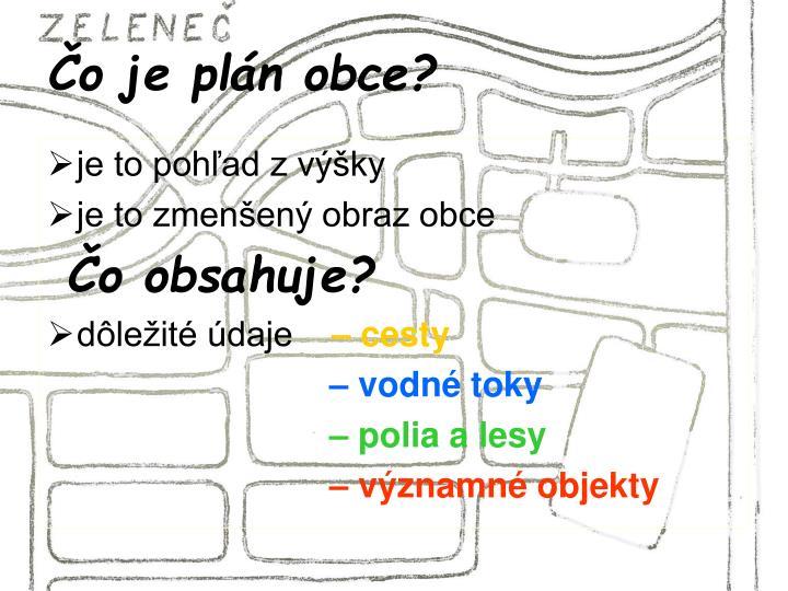 Čo je plán obce?