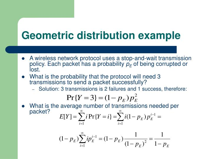 Geometric distribution example