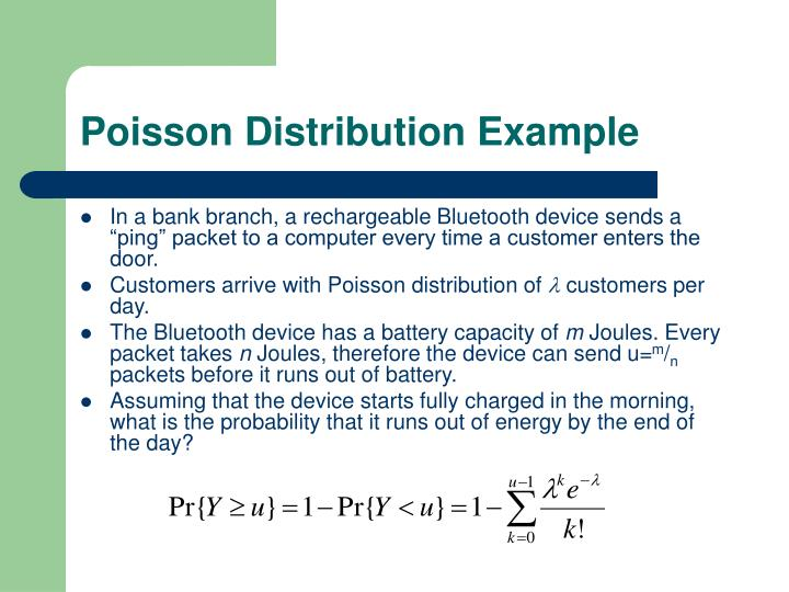 Poisson Distribution Example