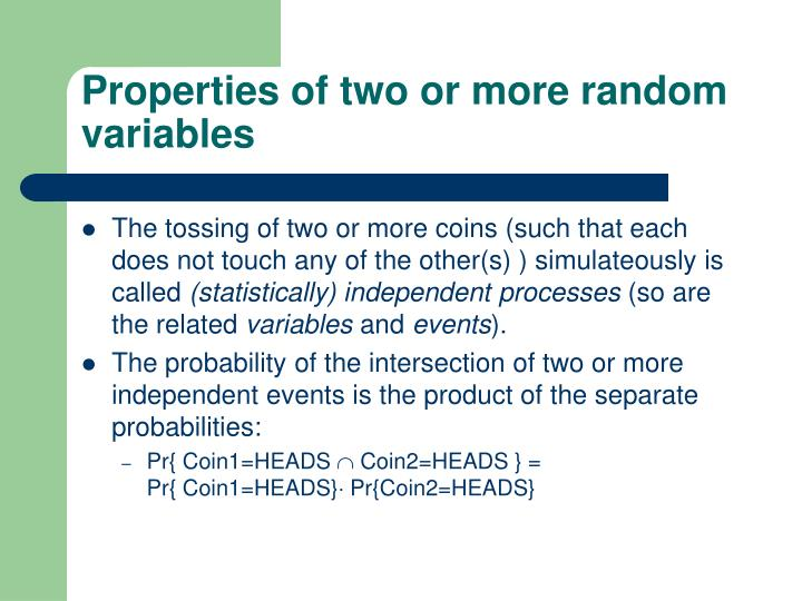 Properties of two or more random variables