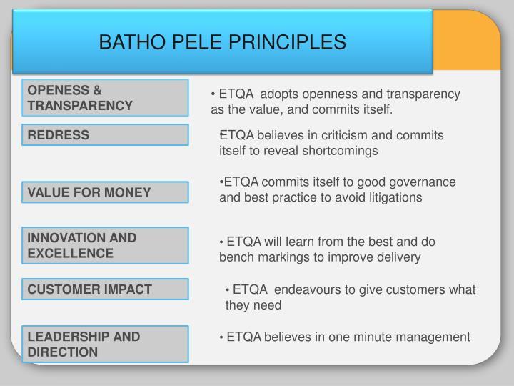BATHO PELE PRINCIPLES