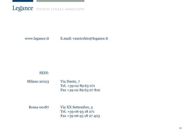 www.legance.it