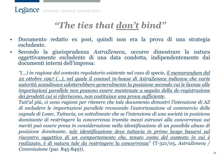 """""""The ties that"""