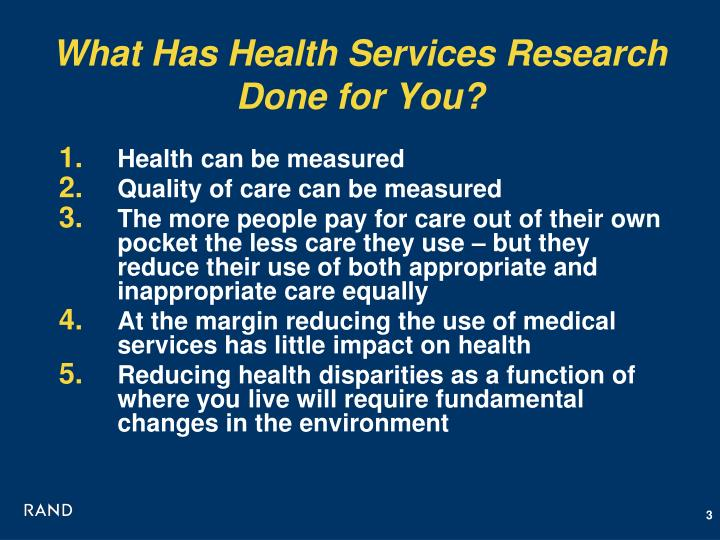 What Has Health Services Research