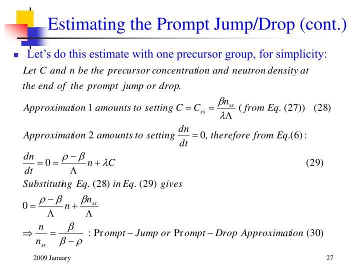 Estimating the Prompt Jump/Drop (cont.)
