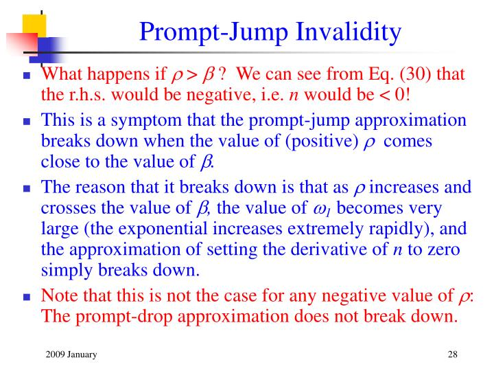 Prompt-Jump Invalidity