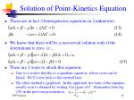 solution of point kinetics equation1