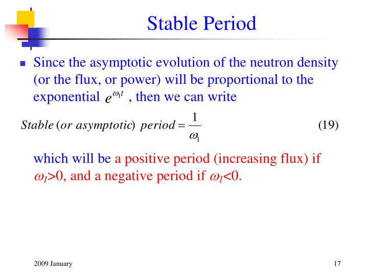 Stable Period