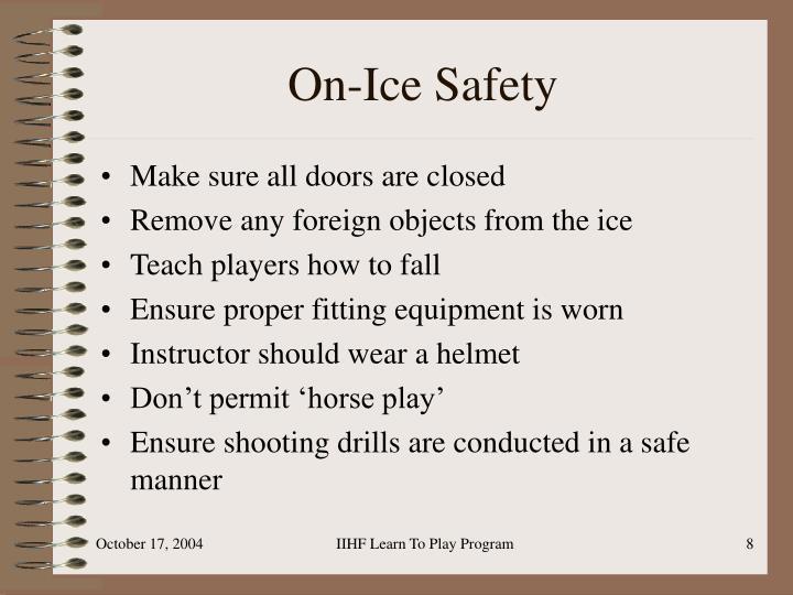 On-Ice Safety
