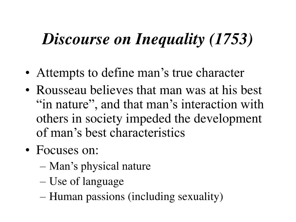 Discourse on Inequality (1753)