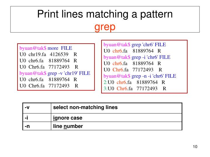 Print lines matching a pattern
