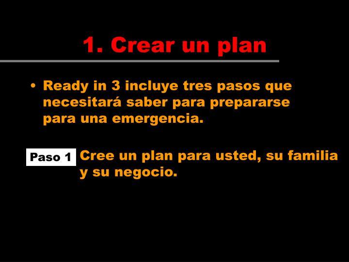 Cree un plan para usted, su familia y su negocio.