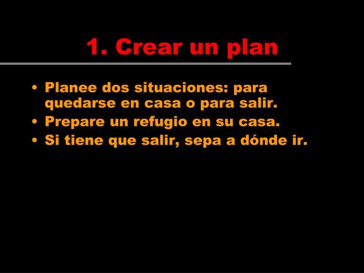 1. Crear un plan