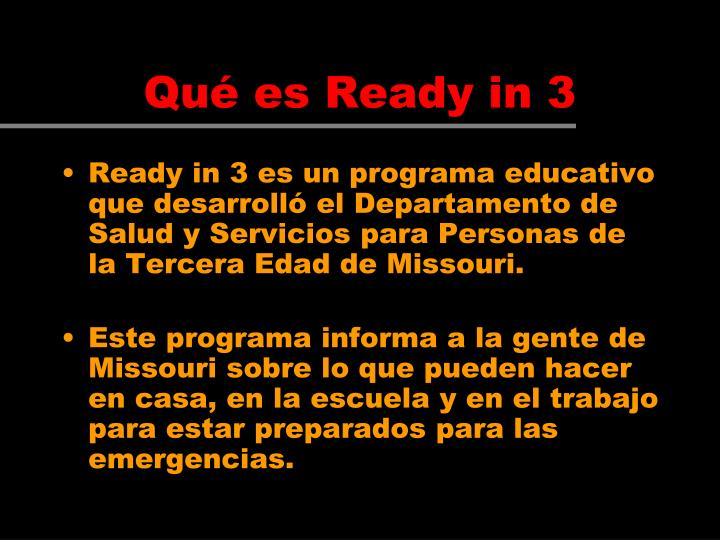 Qué es Ready in 3