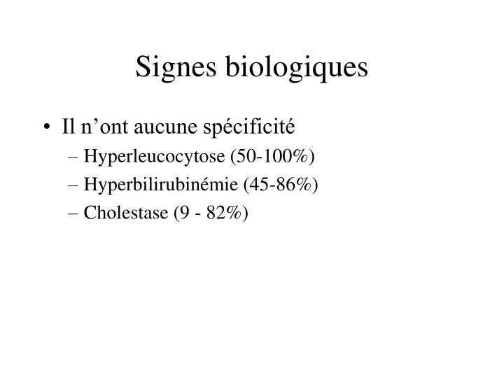 Signes biologiques