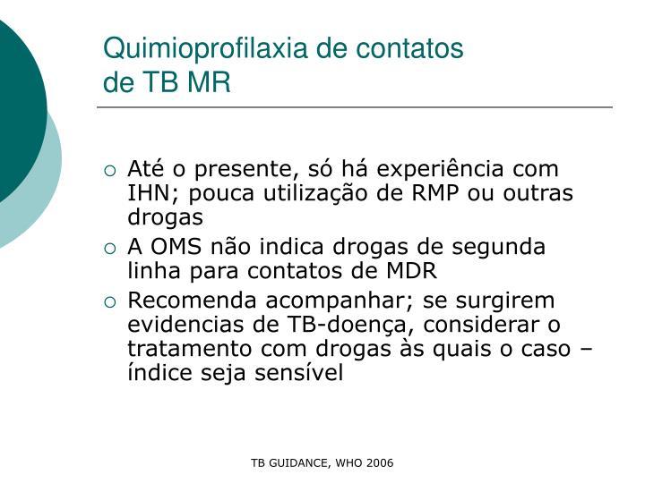 Quimioprofilaxia de contatos