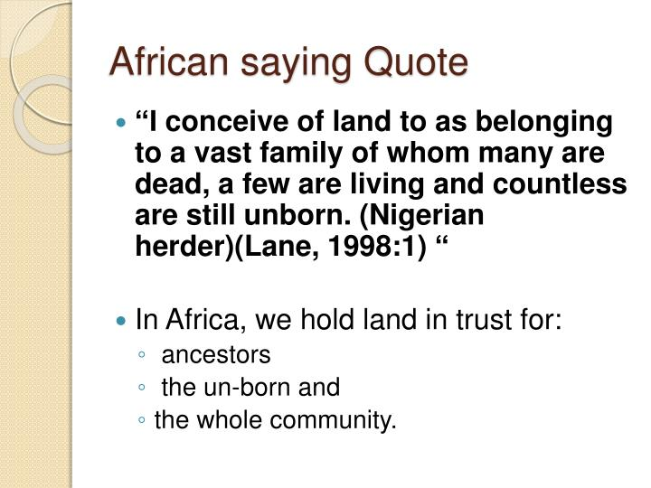 African saying Quote