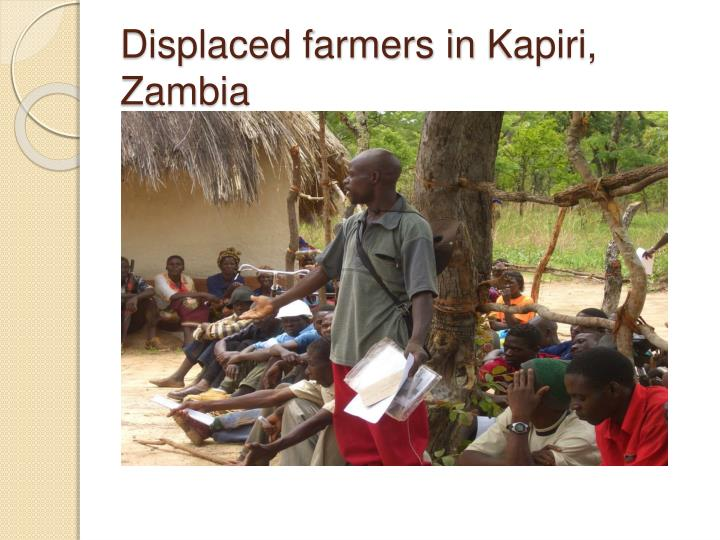 Displaced farmers in