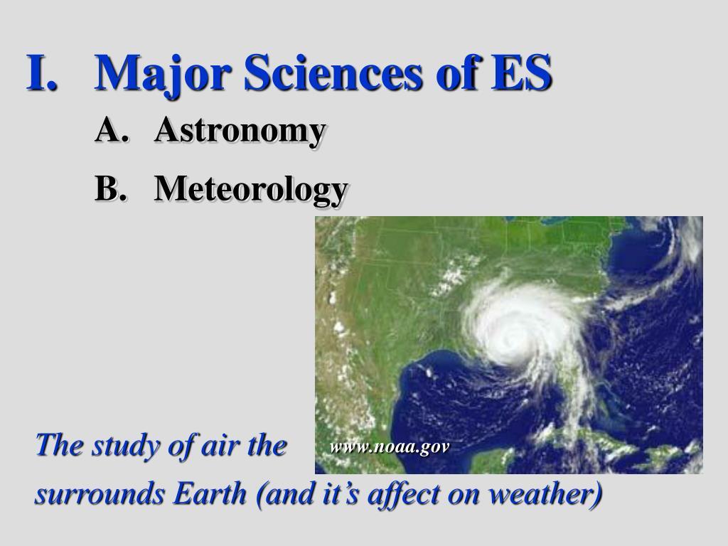 Major Sciences of ES